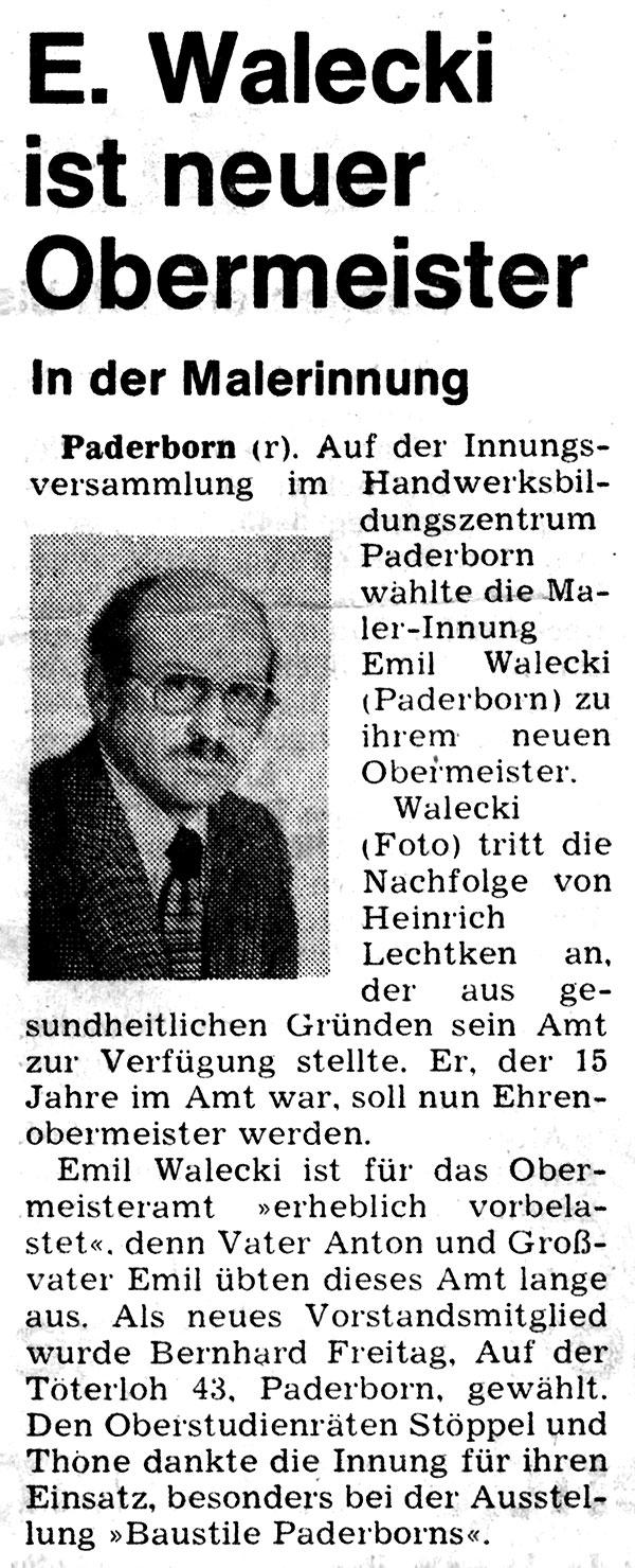 1978_Emil-Walecki-Ernennung-zum-Obermeister